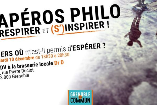 apéro Philo Grenoble en Commun