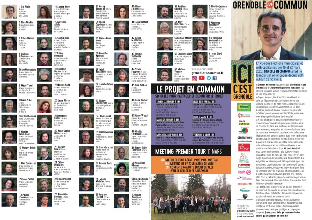 équipe Grenoble en commun