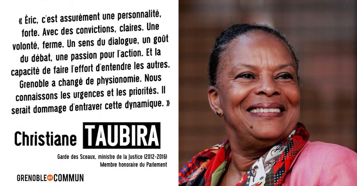 Taubira soutient Eric Piolle
