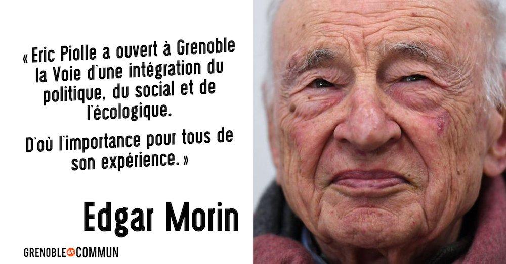 Edgar Morin soutien Eric Piolle